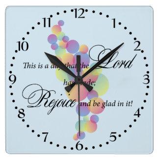 Reloj Cuadrado Esto es un día que el señor ha hecho