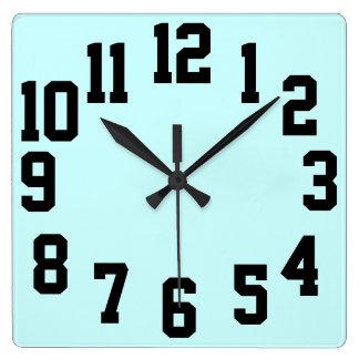 Reloj Cuadrado Fácil grande de los números del alto contraste