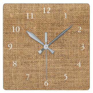 Reloj Cuadrado Familia rústica moderna de la textura de la