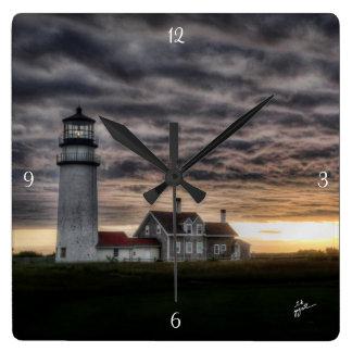 Reloj Cuadrado Faro de Cape Cod