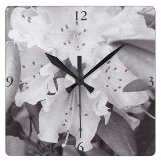 Reloj Cuadrado Reloj cuadrado floral gris