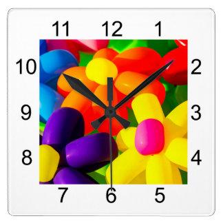 Reloj Cuadrado Flores de globo del juguete