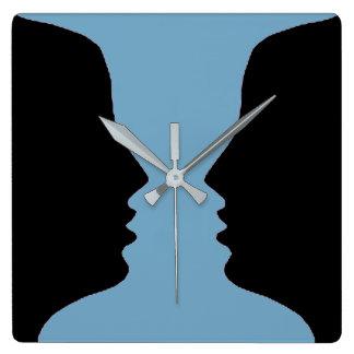 Reloj Cuadrado Foto de la Figura-Tierra de la cara de la vela de