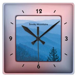 Reloj Cuadrado Fotografía de la naturaleza - salida del sol