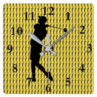 Reloj Cuadrado Golfista