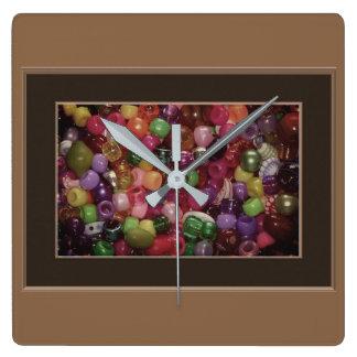 Reloj Cuadrado Gotas coloridas de la joyería