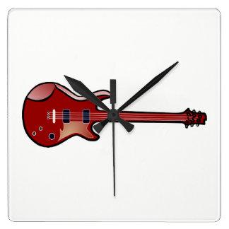 Reloj Cuadrado Guitarra baja