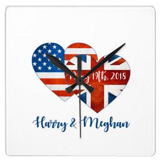 Reloj Cuadrado Harry y boda de Meghan, el 19 de mayo de 2018