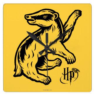 Reloj Cuadrado Icono del tejón de Harry Potter el | Hufflepuff