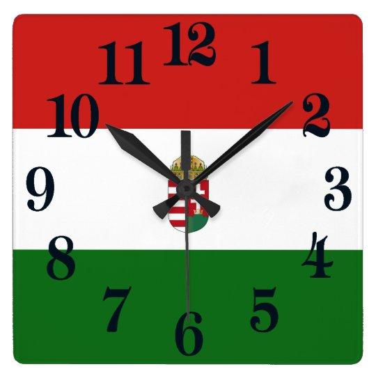Reloj Cuadrado La bandera de Hungría