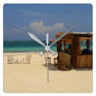 Reloj Cuadrado La barra perfecta de la playa