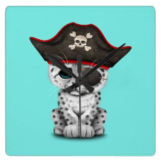 Reloj Cuadrado La onza linda Cub del bebé piratea