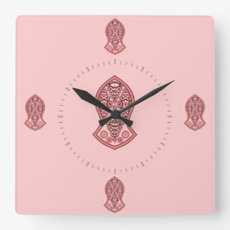 Reloj Cuadrado La sandalia del profeta (alheña) (rojo)
