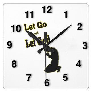 Reloj Cuadrado La silueta dejó va dejó al hombre de rogación de