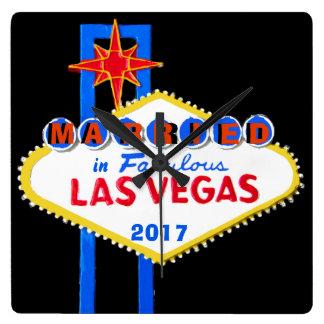 Reloj Cuadrado Las Vegas que casa el recuerdo