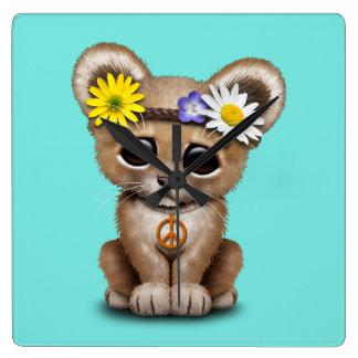 Reloj Cuadrado León lindo Cub del Hippie