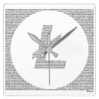 Reloj Cuadrado Litecoin binario