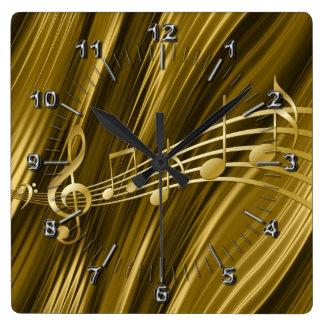 Reloj Cuadrado Llave de oro del violín