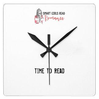 Reloj Cuadrado Los chicas elegantes leyeron hora romántica de