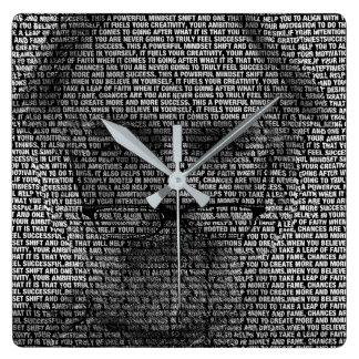 Reloj Cuadrado Los secretos del éxito