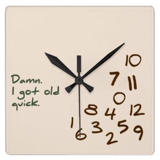 Reloj Cuadrado Maldición. Conseguí rápido viejo