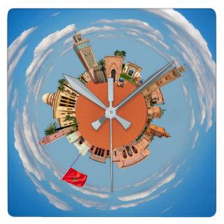 Reloj Cuadrado Marrakesh poco lan del turismo del viaje de