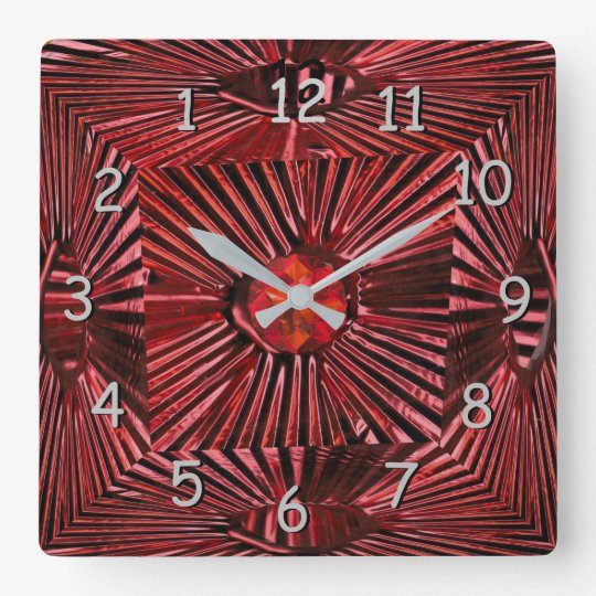 Reloj Cuadrado Metal acanalado