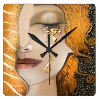 Reloj Cuadrado Mi Klimt Serie: Oro Klimt