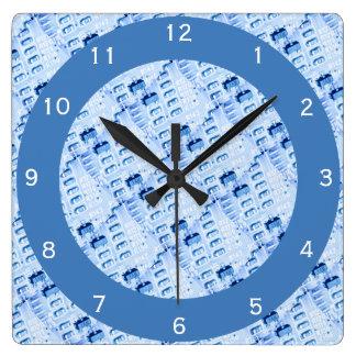 Reloj Cuadrado Modelo azul geométrico moderno