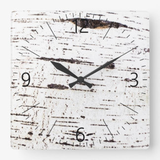 Reloj Cuadrado Modelo de la corteza de abedul