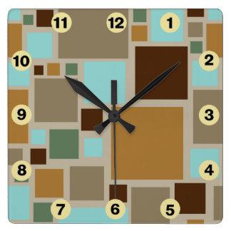 Reloj Cuadrado Modelo moderno de los cuadrados de los mediados de