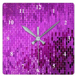 Reloj Cuadrado Modelo púrpura del reflejo del bloque