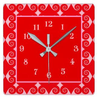 Reloj Cuadrado Modelo rizado del diamante