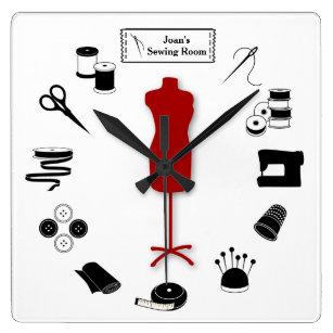 Reloj Cuadrado Modifique la etiqueta para requisitos particulares