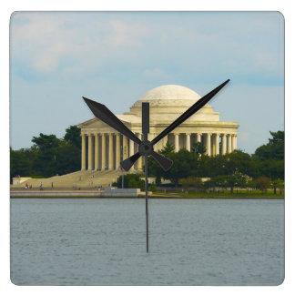 Reloj Cuadrado Monumento de Jefferson en Washington DC