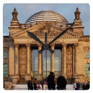 Reloj Cuadrado Nevado Reichstag_001.3.3 (Reichstag im Schnee)