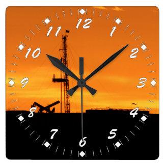 Reloj Cuadrado Números del blanco del aparejo de la paliza del