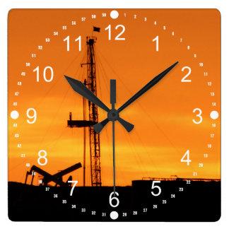 Reloj Cuadrado Números del minuto del sitio del aparejo de la