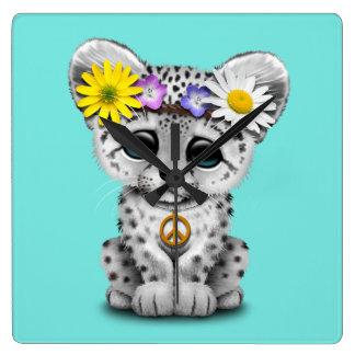 Reloj Cuadrado Onza linda Cub del Hippie
