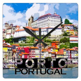 Reloj Cuadrado Oporto