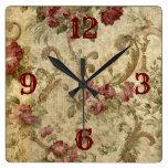 Reloj Cuadrado Orig. diseño Rosa victoriano