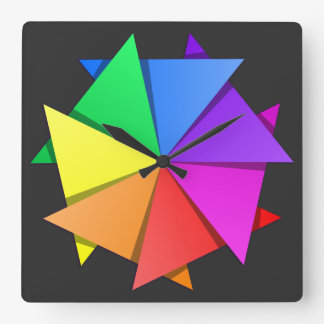 Reloj Cuadrado origami del arco iris