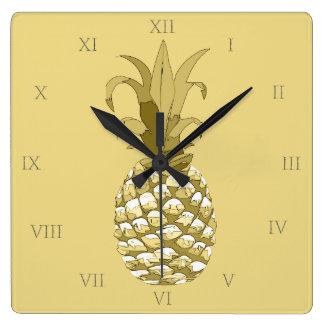 Reloj Cuadrado Oro ID239 de la piña