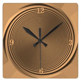 Reloj Cuadrado Oro/reloj del >Wall del diseño del remolino del