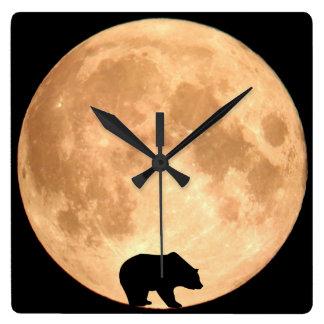 Reloj Cuadrado Oso de la Luna Llena