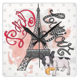 Reloj Cuadrado París Bonjour