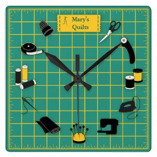 Reloj Cuadrado Personalizar del tiempo del edredón la etiqueta