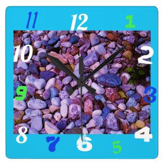Reloj Cuadrado Piedras frescas