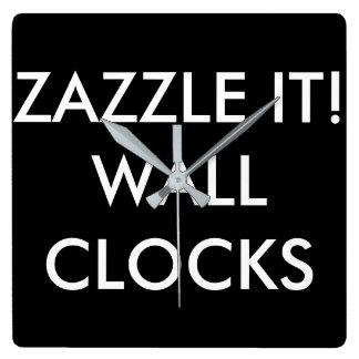 Reloj Cuadrado Plantilla personalizada personalizado del espacio