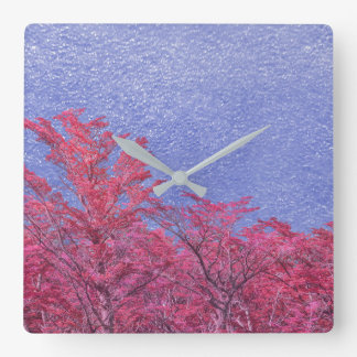 Reloj Cuadrado Poster del tema del paisaje de la fantasía